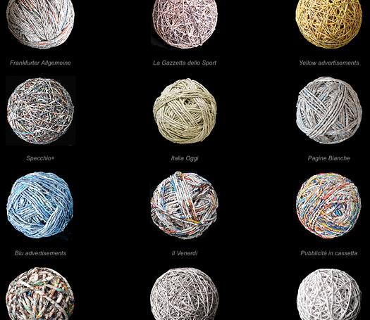 the paper balls of Ivano Vitali